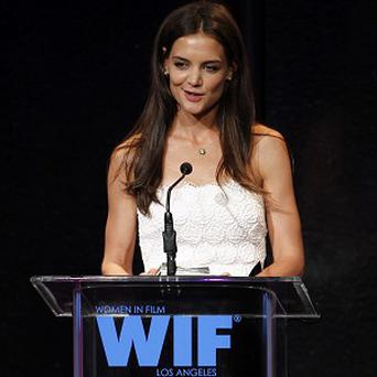 Katie Holmes thanked her husband Tom Cruise in her acceptance speech