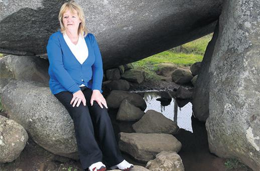 Maureen Sullivan, who worked in a Magdalene home, at the Brownshill Dolmen in Co Carlow