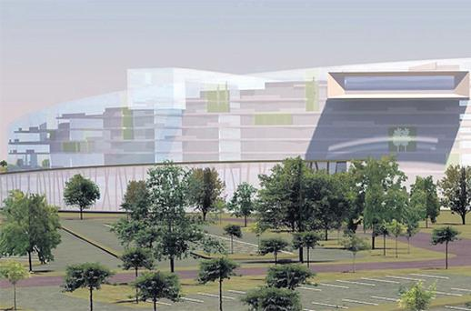An artist's view of the proposed casino in Two-Mile-Borris