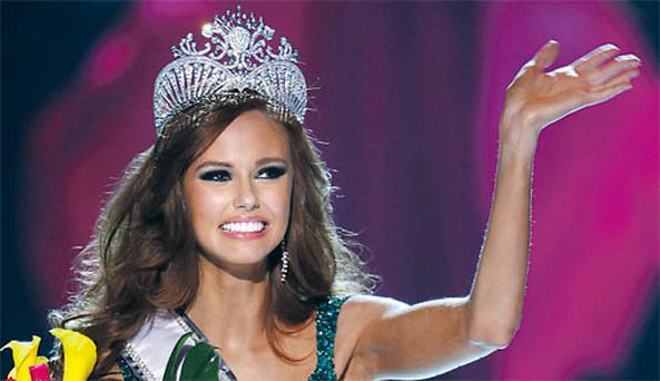 New Miss USA Alyssa Campanella was asked whether she thought marijuana should be legalised. REUTERS/STEVE MARCUS
