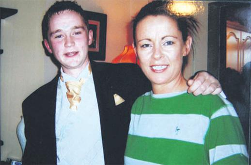 Christine Campbell with her son Anthony