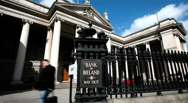 Bank Of Ireland on College Green, dublin