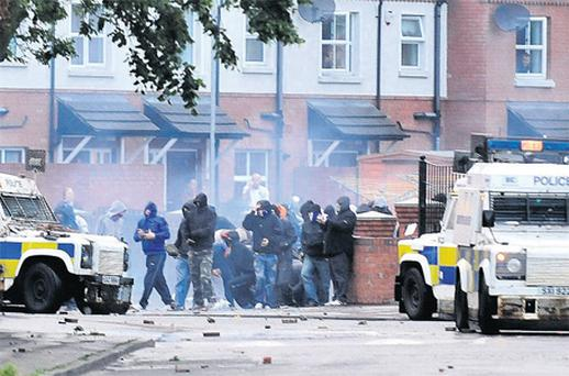 Sectarian trouble flares in east Belfast's Short Strand this week