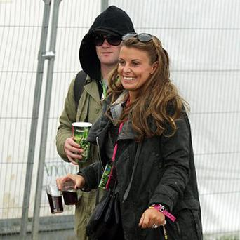 Wayne and Coleen Rooney were spotted at Glastonbury