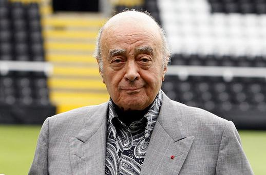 Mohamed Al Fayed. Photos: PA
