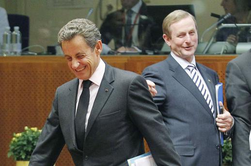 France's President Sarkozy and Ireland's Prime Minister Enda Kenny. Photo: Reuters