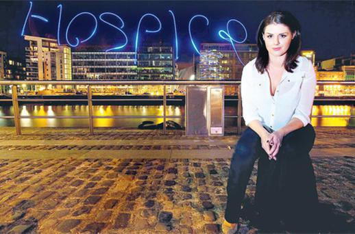 Sile Seoige joined more than 1,000 Midsummer Moonwalkers at the Convention Centre Dublin on Saturday night to take part in a minute of remembrance for loved ones in hospices