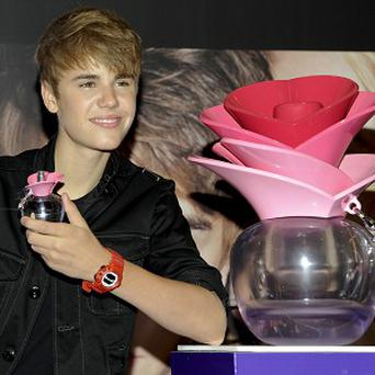Justin Bieber was launching his new fragrance at the shop