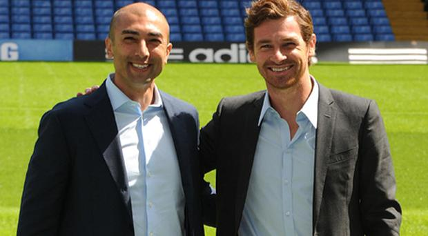 Chelsea's new manager Andre Villas-Boas and assistant first team coach Roberto Di Matteo are unveiled by Chelsea. Photo: PA