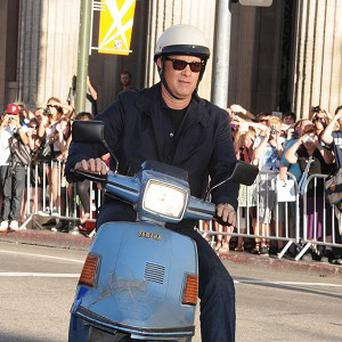 Tom Hanks revealed he nearly crashed his scooter