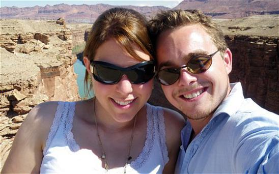Heidi Withers and Freddie Bourne on holiday in the US