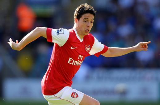 As far as Wenger is concerned Samir Nasri is not for sale. Photo: Getty Images