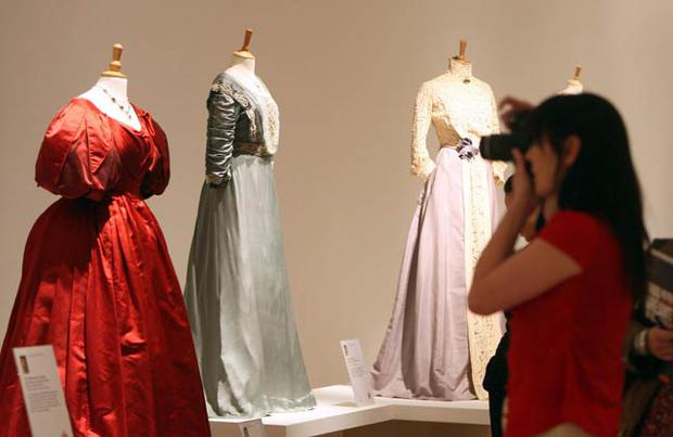 Highlights of the exhibtion include costumes from The King's Speech, Downton Abbey, Shakespeare in Love, The Duchess, Evita and Dangerous Liaisons. All photos: Paul Faith/PA Wire