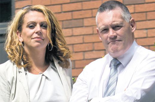 Brendan Beggan and Olivia Greene at the Employment Appeals Tribunal in Dublin yesterday