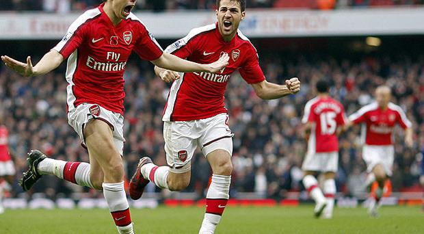 Arsenal's wantaway stars Cesc Fabregas and Samir Nasri. Photo: Getty Images