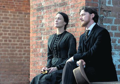 Wright and McAvoy in The Conspirator