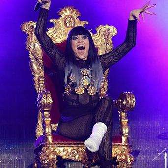 Jessie J has been ordered to rest after breaking her foot in two places