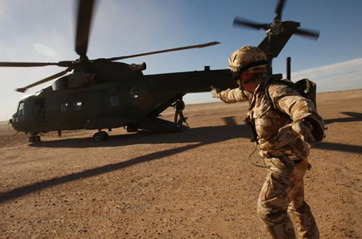 A soldier from the Nato-led international force in Afghanistan has gone missing Photo: Getty Images