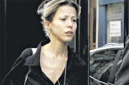 French writer Tristane Banon leaves the office of her lawyer in Paris in May