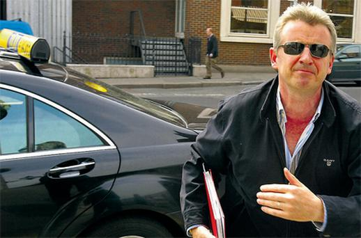 Michael O'Leary prefers to travel by cab so he can use taxi and bus lanes in Dublin while commuting from Mullingar
