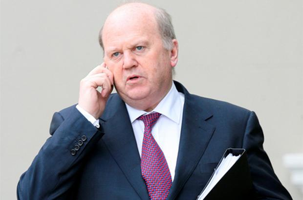 Finance Minister Michael Noonan last night revealed for the first time just how much the international agencies will make if the €85bn in loans are drawn down in total. Photo: Frank McGrath