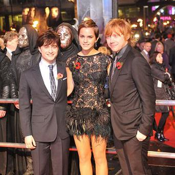 Daniel Radcliffe, Emma Watson and Rupert Grint were all emotional when filming ended on the last Harry Potter movie