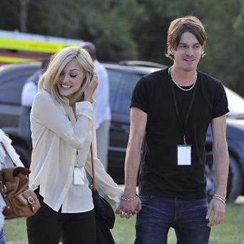 Fearne Cotton was spotted grinning with Jesse Wood