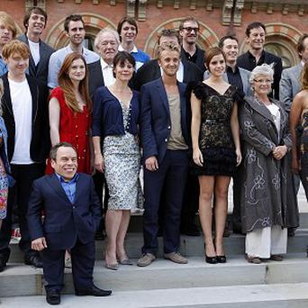 The cast of Harry Potter get together before the final film's world premiere