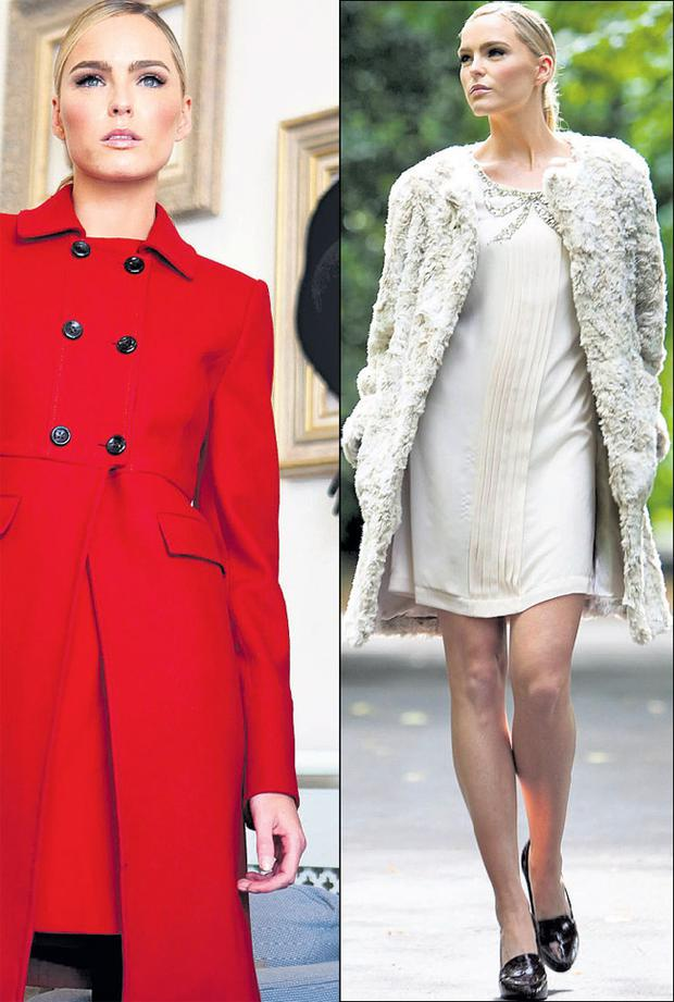 Sarah Morrissey wears popular items from the Oasis Autumn/Winter 2011 collection