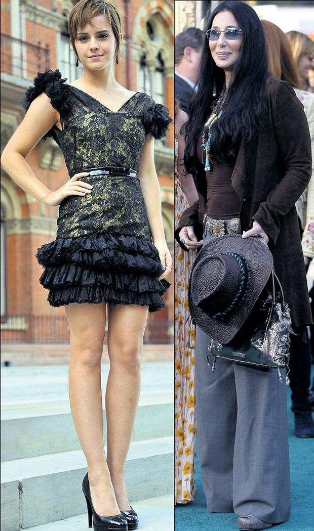 From left: Emma Watson and Cher