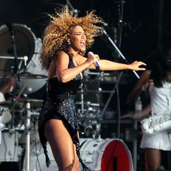 Beyonce performs at T in the Park