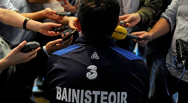 Waterford boss Davy Fitzgerald faces the media after Sunday's drubbing against Tipperary. Photo: Sportsfile
