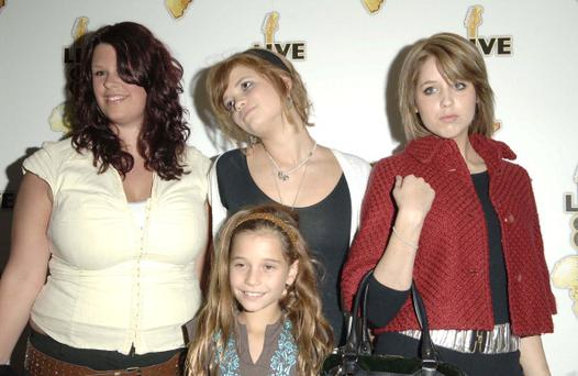 Fifi Geldof, Heavenly Hiraani Tiger Lily Hutchence Geldof, Pixie Geldof and Peaches Geldof (Photo by J.Tregidgo/WireImage)