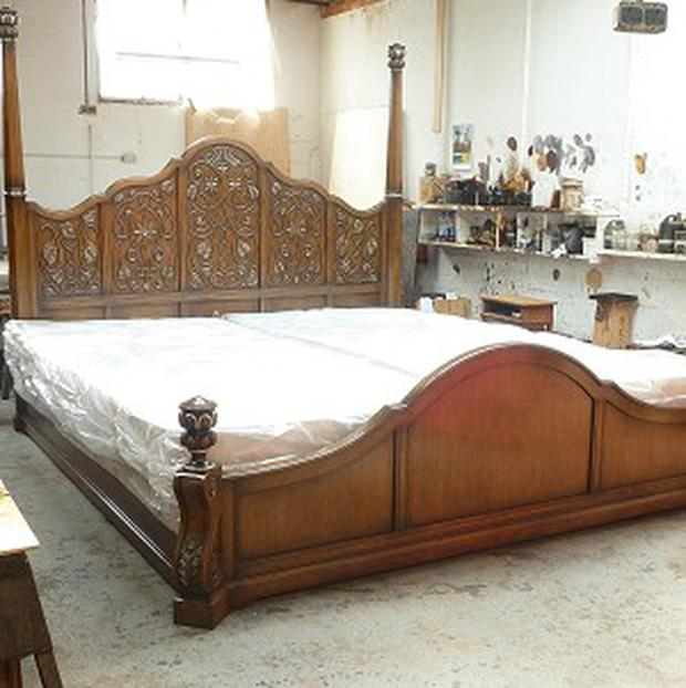 The huge bed made for a mystery customer from Moscow by Ipswich-based Titchmarsh and Goodwin
