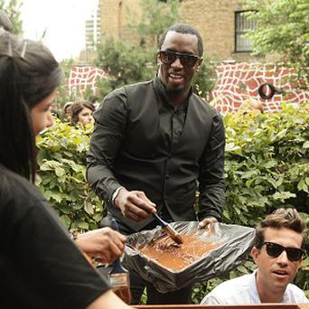 P Diddy helped out with some painting
