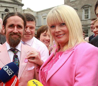 TDs Ming Flanagan and Mary Mitchell O'Connor