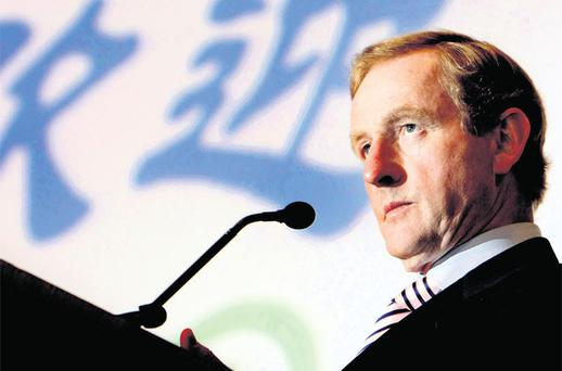 HAPPY-GO-LUCKY: Taoiseach Enda Kenny 'has been a magnet for the stardust of decisive amiablity previously associated with Ronald Reagan'