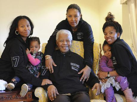 Nelson Mandela celebrates his 93rd birthday with his family at his home in Qunu Photo: