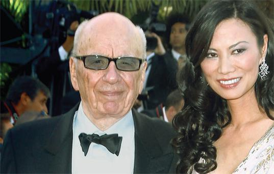 Rupert Murdoch with his hugely influential wife Wendi Deng