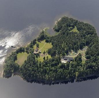An aerial view of Utoya Island where a gunman killed at least 80 people at an island youth camp (AP/Mapaid)