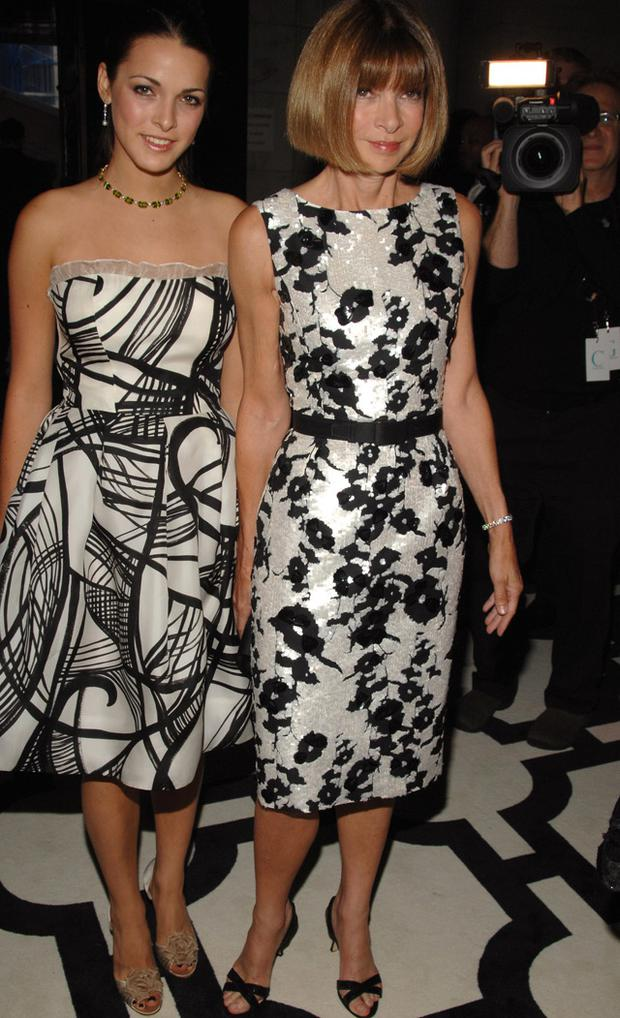 Anna Wintour (right) and her daughter Bee Shaffer. Photo: Getty Images