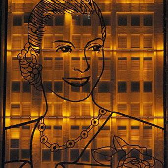 An iron portrait of the late Evita Peron is unveiled in the 59th anniversary of her death in Buenos Aires, Argentina (AP)