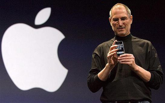 Steve Jobs on stage at Apple's WWDC event in June. Photo: AP
