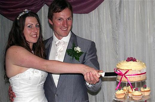 Ben and Catherine Mullany on their wedding day. Photo: PA