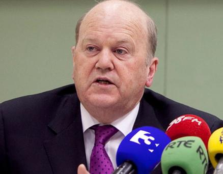 BUSINESS 21/07/11NTMA Publishes Annual Report 2010The National Treasury Management Agency {NTMA} today published it Annual Report 2010.Pictured are Minister for Finance, Michael Noonan, TD and John Corrigan, Chief Executive, NTMA.Picture by Shane O'Neill / Fennells.