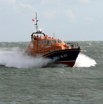 The RNLI had to assist a group of rowers raising money for the charity