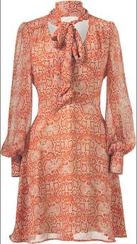 Snakeskin print dress, €19, Penneys