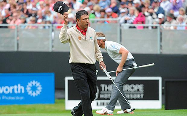 Jeev Milkha Singh moved three shots into the lead at the Irish Open. Photo: Sportsfile