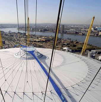 Computer-manipulated photo showing how the O2 would look with a 190m-long walkway, which has been granted planning permission