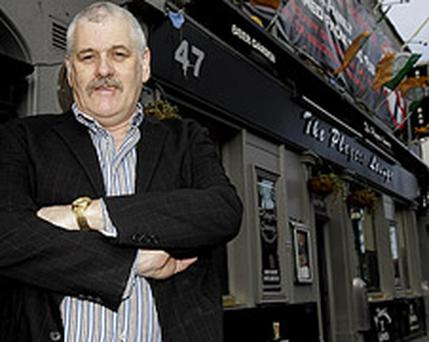 John Stokes, outside his pub the Players Lounge in Fairview, Dublin. Photo: PA